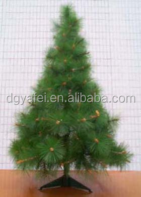 4 m artificial Christmas tree pine tree with pine cones with real branch