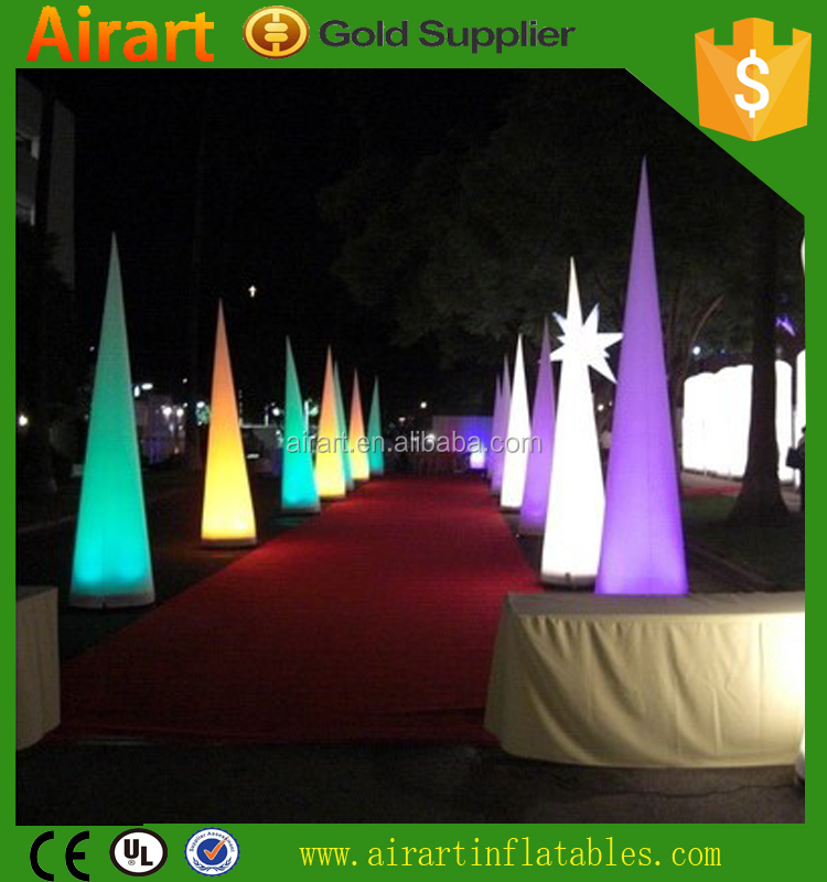 wholesale inflatable wedding arches columns, inflatable light cone balloon for sale