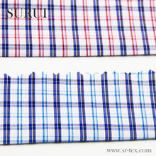plain bamboo fiber plaid fabric for spring and autumn mens check shirt