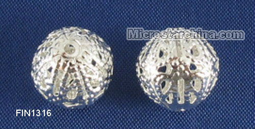 250Pcs Silver Plated Filigree Ball Spacer Beads 12mm Dia In Stock