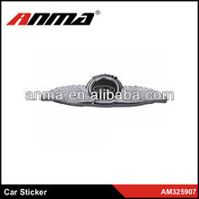 Car stickers design silver ABS chorm design car sticker