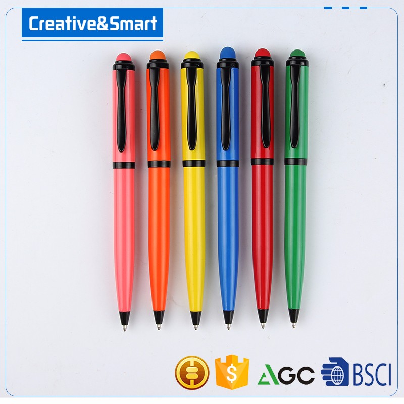 Creative&Smart Promotion Gift For Business Excellent Quality Aluminum 1.0mm Biro Pen/ Metal Pen With Stylus