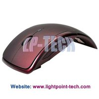2012 fashion usb 3D optical figer foldable wireless mouse