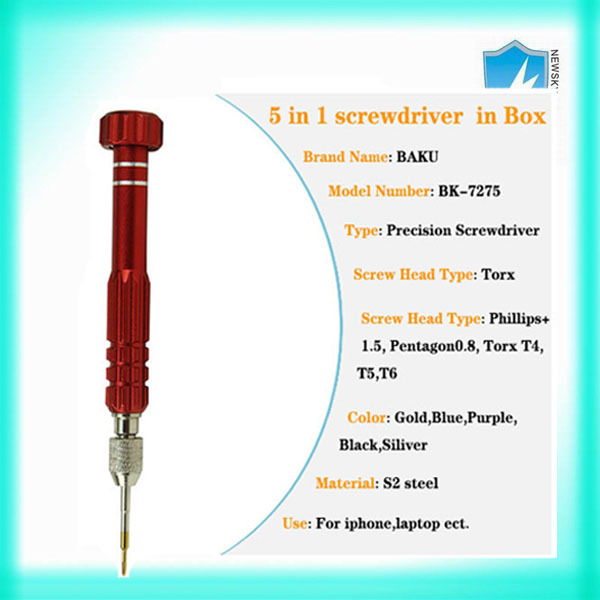 5 in 1 screwdriver set Torx Phillips Flat Triwing Pentalobe screwdriver for mobile phone
