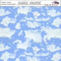 Leading Fashion No.DGM-10312 Hydrographic Film Dazzle Blue Sky Design Feature Pattern Water Transfer Printing Film