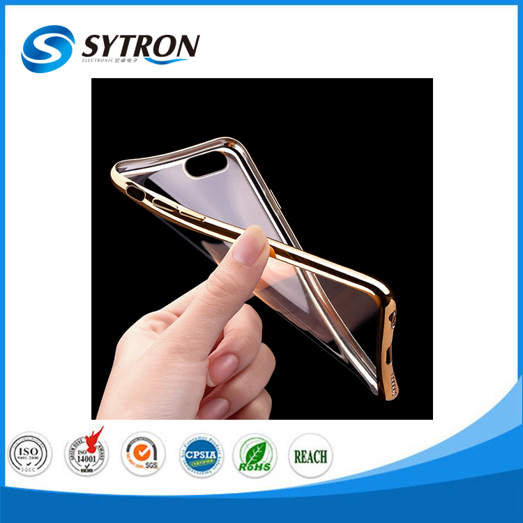 New Fashion Cell Phone Case Electroplating Soft TPU for iphone 7 Case 360