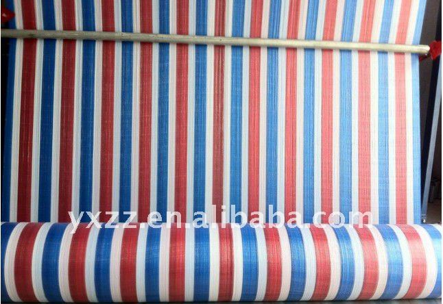 PE Color Stripes Tent Tarpaulin