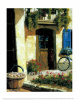Village House Village Life Scenery Back from the Market Oil Paintings