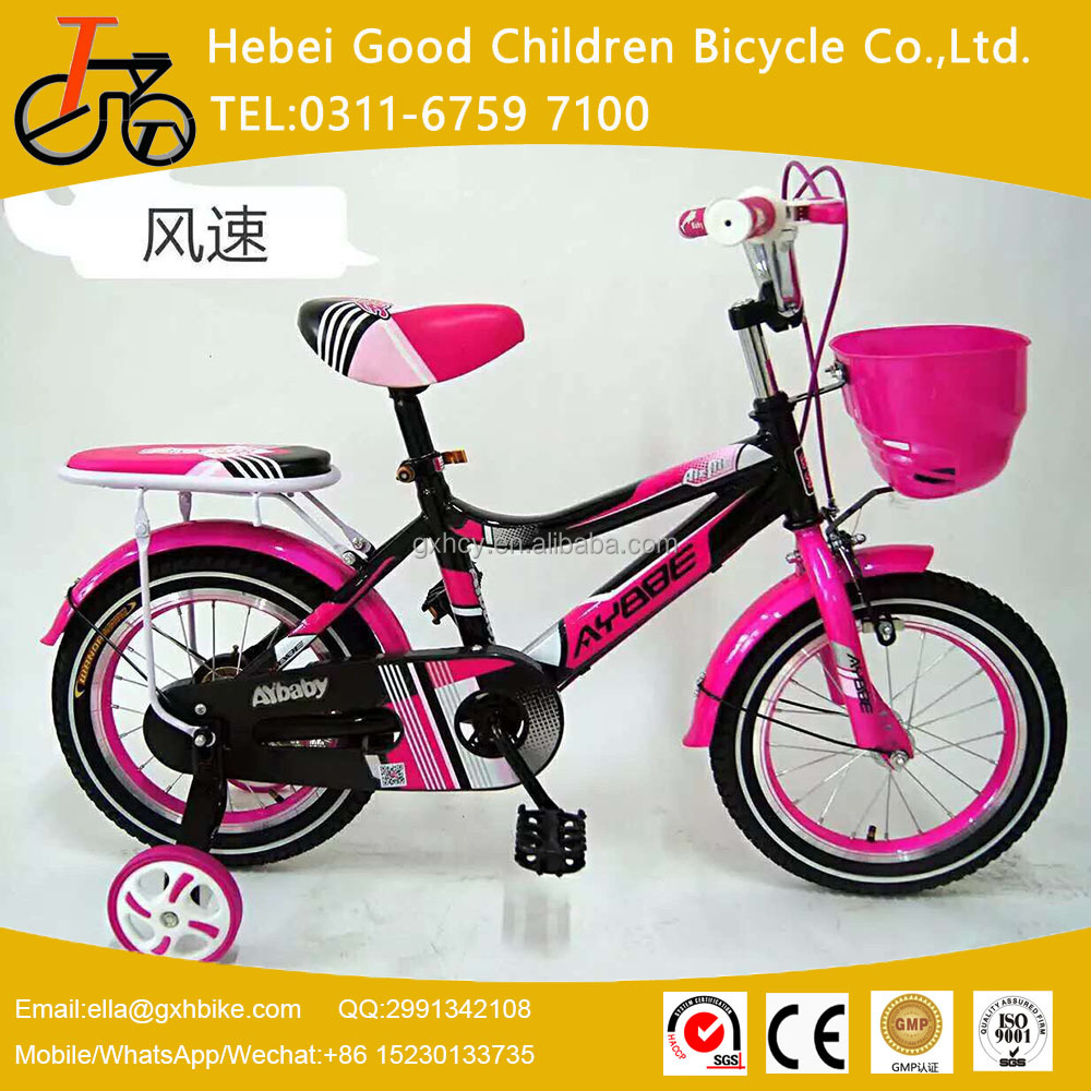 2016 kid bicycle beautiful bicycle for 3 years old girl children bike with trainning wheels