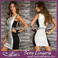 Wholesale Newest Sexy Black and White Summer MIni Short good-time-usa-dress