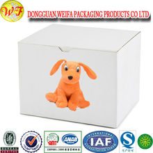 Rigid Large Gift Packaging Boxes White Printed Corrugated Paper Carton Box