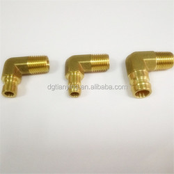 Brass hose nipple for pipe threading turning machine