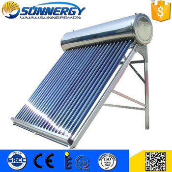 CE approved compact unpressurized energy saving heater