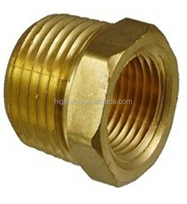 Brass hex bushing reducing view