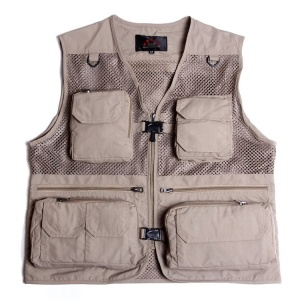 High quality adults outdoor relaxation wear waistcoat multi pocket custom mesh fishing vest