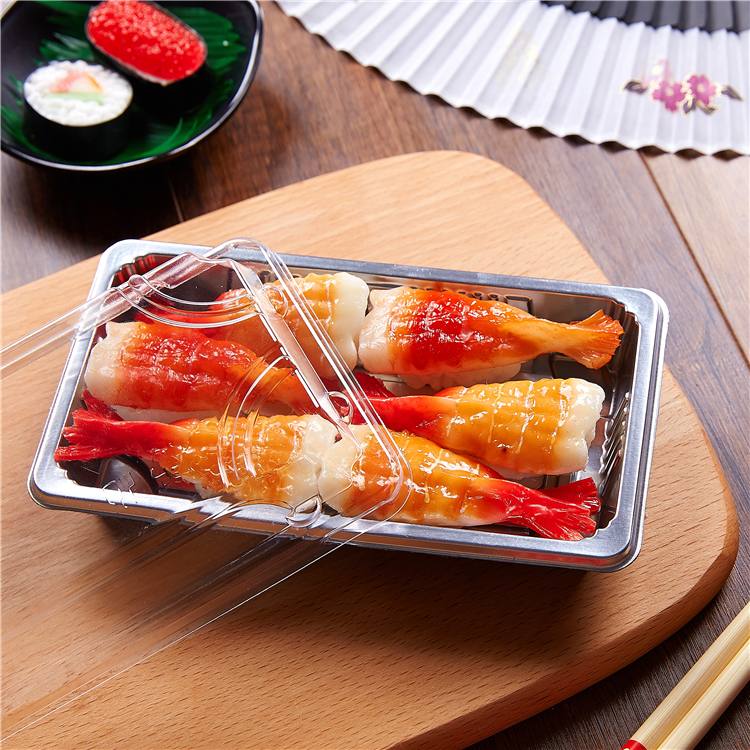 SM1-1101H Silvery Sushi display tray/disposable sushi tray/plastic sushi tray
