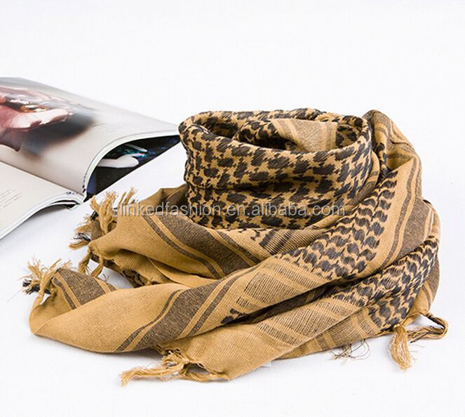 2015 Men Desert ARAB Hijabs Cotton Military Scarf