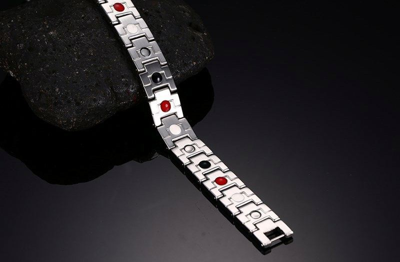 Magnetic Ladies 316 Stainless Steel Bangles Power Bracelet For Male