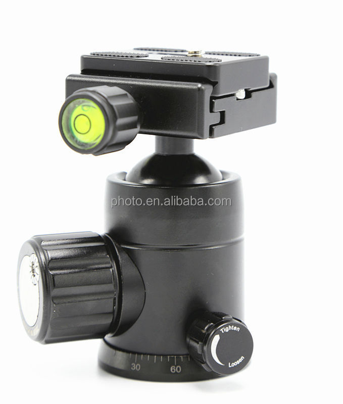 LWB-HB01 New arrival professional photography photo studio camera tripod ball head with friction control knob for DSLR video