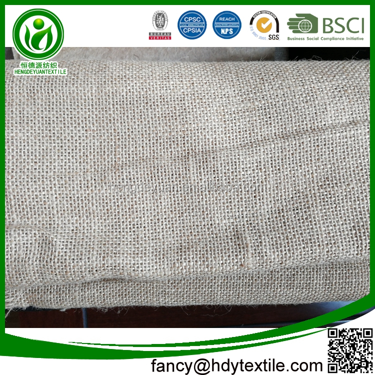 Chinese quality Multifunctional Plain weave pure natural 100% jute linen burlap fabric