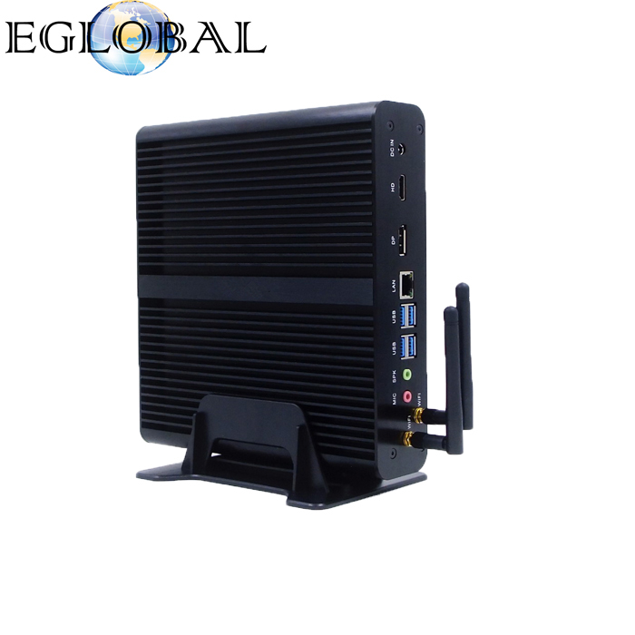 Eglobal Barebone System Intel 6th Gen Skylake i7 6500u Powerful Fanless Mini PC Mini Computer Support 3D Games