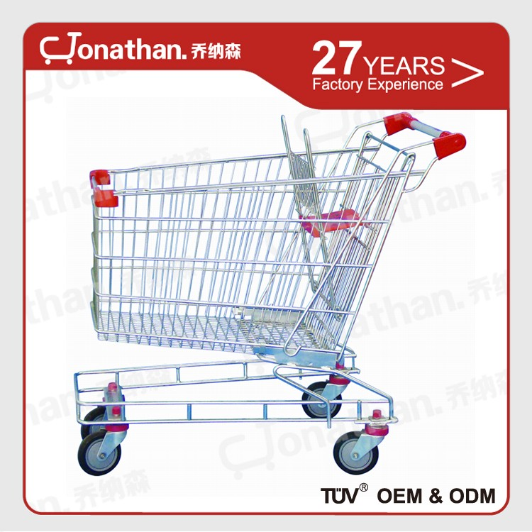 150 litre easy to move Zinc coating australia metal shopping trolley