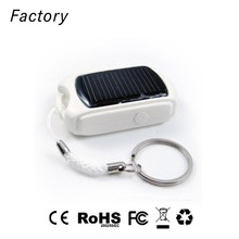 ABS material mini solar charger made in China smartphone accessory power bank with LED lights
