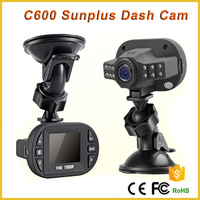 C600 best night vision in car recording camera with 12pcs IR lights security camera for car, C600 car hd camera recorder