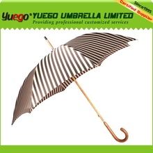 customized curve handle cheap wooden straight umbrella