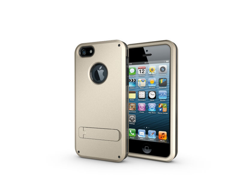 2017 New!! TPU + PC strong box 3 in 1 Hybrid Armour case for iphone 5
