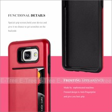 Credit Card heavy duty Mobile Phone Case Back Cover For Samsung Galaxy A5 2016 A510
