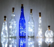 Christmas Party Decoration 2M 20Led Glass Wine LED String Cork Shaped Wine Bottle Stopper Light Lamp