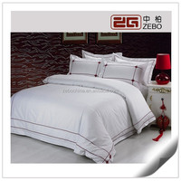 100% Cotton 60s Custom White Sateen Bedding Sets Star Hotel Used Bedsheets