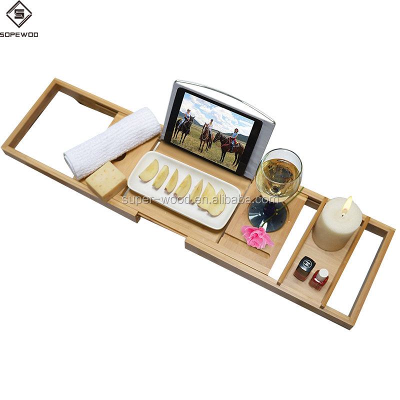 Wholesale Custom Luxury Adjustable Bamboo Bathtub Caddy Tray - Buy ...