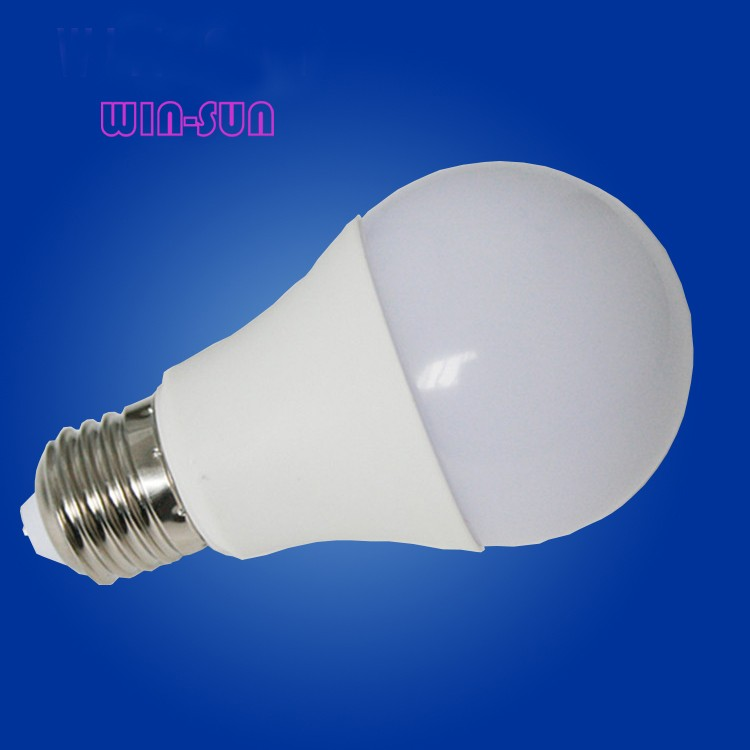 C- Hight quality led lighting aluminum and plastic shell with PC cover high lumen SMD E27 A60 5w led bulb light