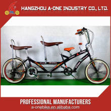 Good Price Adult Pedal Tricycle Two People Tandem Bike With Ce Approved