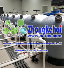 Green Sand cylinder filter tank for swimming pool waste water