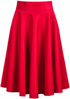Skirts Bottoms fashion women girl clothes Red Elastic Pleated Midi Skirt