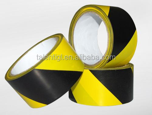 red white and black yellow Anti-flaming adhesive PVC film warning duck tape