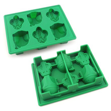 Wholesale silicone ice cube tray and silicone ice maker star shape war