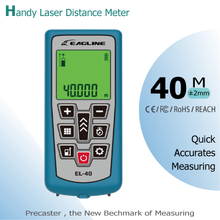 Compact and good handheld laser distance meter 40m area,volume,height,add and subtract looking for distributor and oem