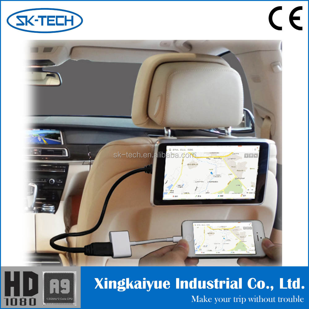 "Removable headrest dvd,Headrest Placement and 9"" Screen Size dvd player headrest with HDMI MHL"