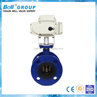 DN250 PN16 Ductile Iron Electric Flange Butterfly Valve