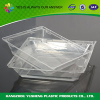 Wholesale disposable clear plastic pizza tray