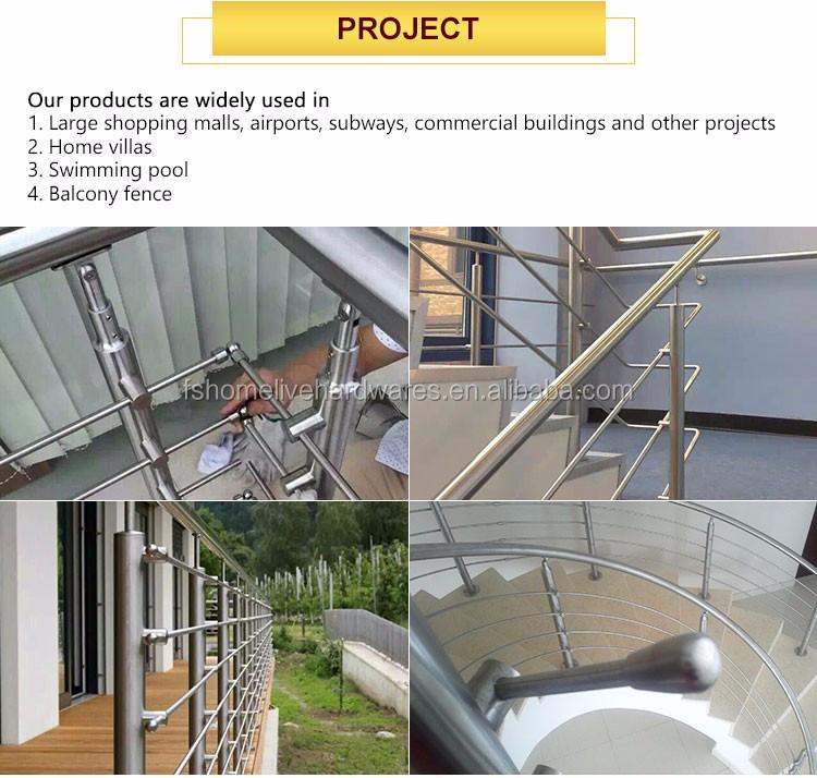 China Great Manufacturer Railing Stainless Balcony Railings Glass Handrail