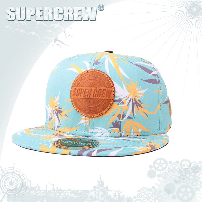 Beautiful Fashion Floral Hip Hop Snapback Hats With Flat Brim