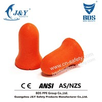 anti-noise ear defenders, bell shape earplugs, PU foam earplugs