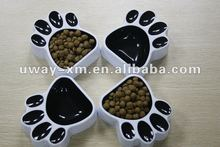UW-PB-142 2012 hot selling cat paw shape PS dog bowl,cat bowl, pet bowl