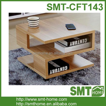 Fashionable wood furniture s shape coffee table
