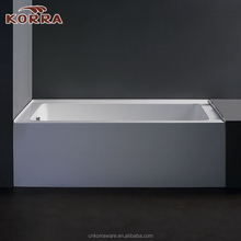 Rectangular designs acrylic bathtub indoor 1 person hot tub Stand-Alone Freestanding Tub
